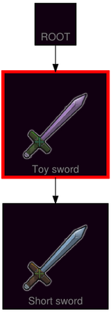 ResearchTree Toy sword