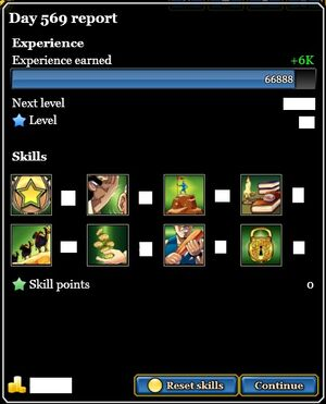 Day report with skills