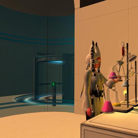 K'ara preparing medical chemics.