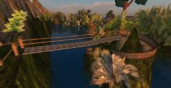 Zonama Sekot's small rope bridge