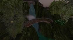 Zonama Sekot's garden's waterfall bridge