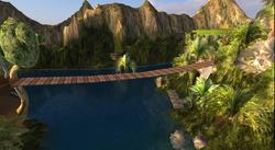 Zonama Sekot's great rope bridge