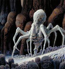 Knobby White Spider