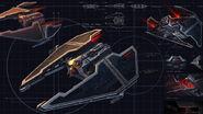 Fury-class Imperial Interceptor schematics