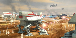 Republic Troop Transport tijdens de GReat Galactic War
