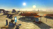 Traveling trader camps dot the barren landscapes of Tatooine