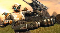 Trooper Commando met een blaster cannon