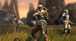 Trooper Commando in een gevecht