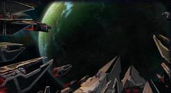 Sith vloot arriveerd bij Bothawui