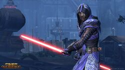 Sith Inquisitor met dual lightsaber