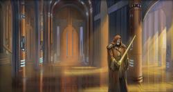 Belth Allusis in de Jedi Temple