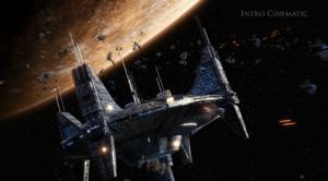 Korriban Space Station onder een aanval