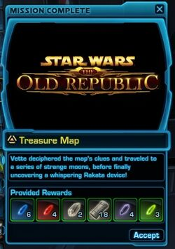 SWTOR Archaeology mission complete - Treasure Map