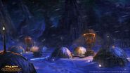 Ilum kamp tijdens een sneeuwstorm
