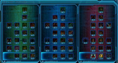 Mercenary Bounty Hunter Skill Tree