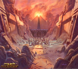 Korriban Sith Academy concept art