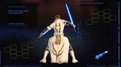 Star Wars The Old Republic Jedi Knight Character Progression Video