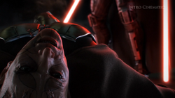 De Zabrak Jedi Master sterft