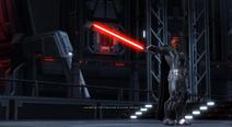 Lord Scourge bewaakt de Emperor