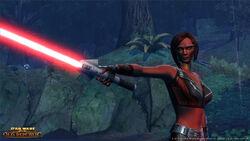 Een vrouwlijke Sith Pureblood