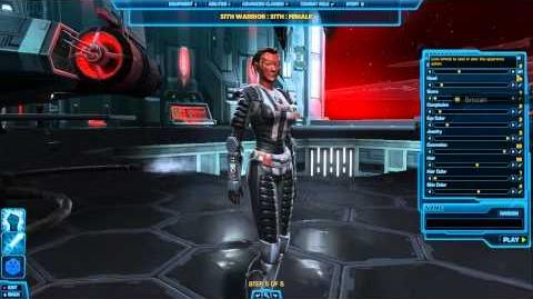 Creating a Sith Warrior - SWTOR TOR - Star Wars The Old Republic