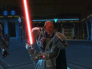 Lord Scourge mit Lichtschwert