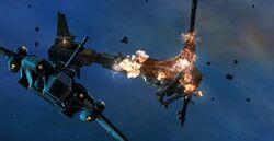 Escaping from the self-destructing Eternal Fleet ship