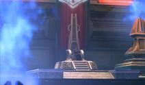 Sith Emperor op zijn troon