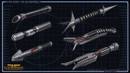 Sith Warrior lightsabers