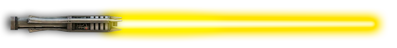 Image result for Yellow Lightsaber png