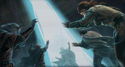 De Jedi sluiten Exar Kun op