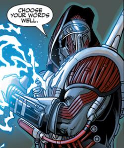 Darth Marr gebruikt Force lightning