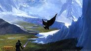 Ijs landschap op Alderaan