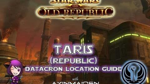 ★ SWTOR ★ - Datacron Location Guide - Taris (Republic)