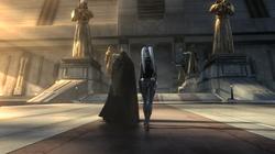 Darth Malgus betreed de tempel