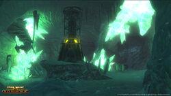 De Crystal mine op Ilum