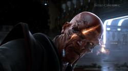Darth Malgus' Sith Pureblood Master geraakt in het gezicht