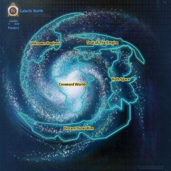 Galaxy Map Star Wars The Old Republic Wiki FANDOM Powered By - Star wars old republic us map