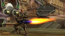 Een Commando Trooper met een heavy gun