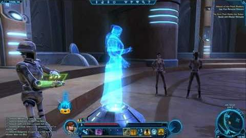 Holograms in the Jedi Temple - Star Wars The Old Republic TOR