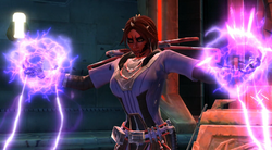 Sith Inquisitor met force lightning