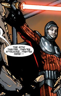 Darth Angral vermoord de Chancellor
