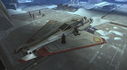 Talon-class Republic starfighter landed
