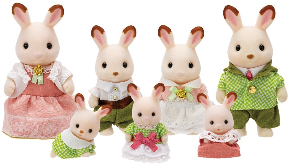 204 Sylvanian Families Household furniture set chocolate rabbits triplets set