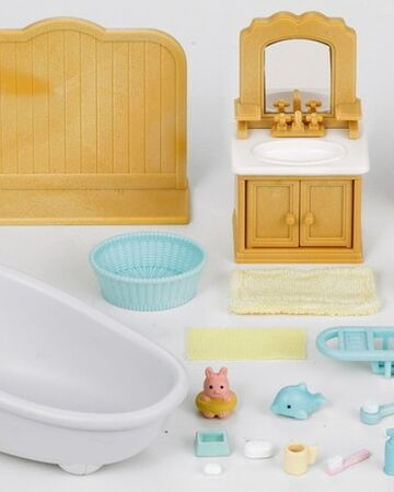 Country Bathroom Set 1704 Sylvanian