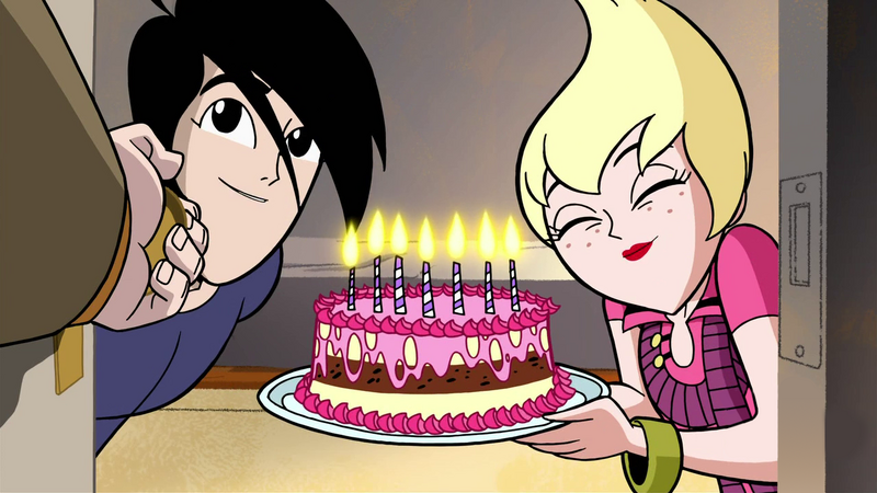 Image Ilana And Lance Surprise Octus With A Happy Birthday Cake In