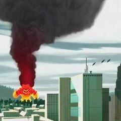 Fire Monster has a Smoke Column