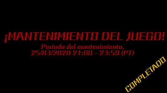 Text image mantenimiento 25 03