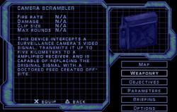 SF2 Camera Scrambler Screen