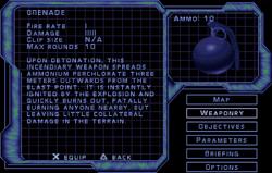 SF2 Grenade Screen